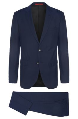 Costume Regular Fit en pure laine vierge: «C-Jeys1/C-Shaft1», Bleu