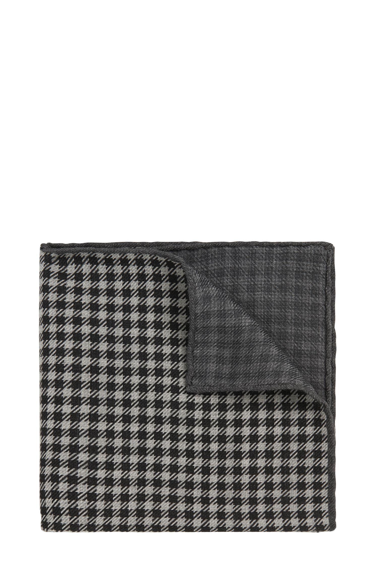 Geruit pochet van wol uit de Tailored-collectie: 'T-Pocket sq. 33x33 cm'