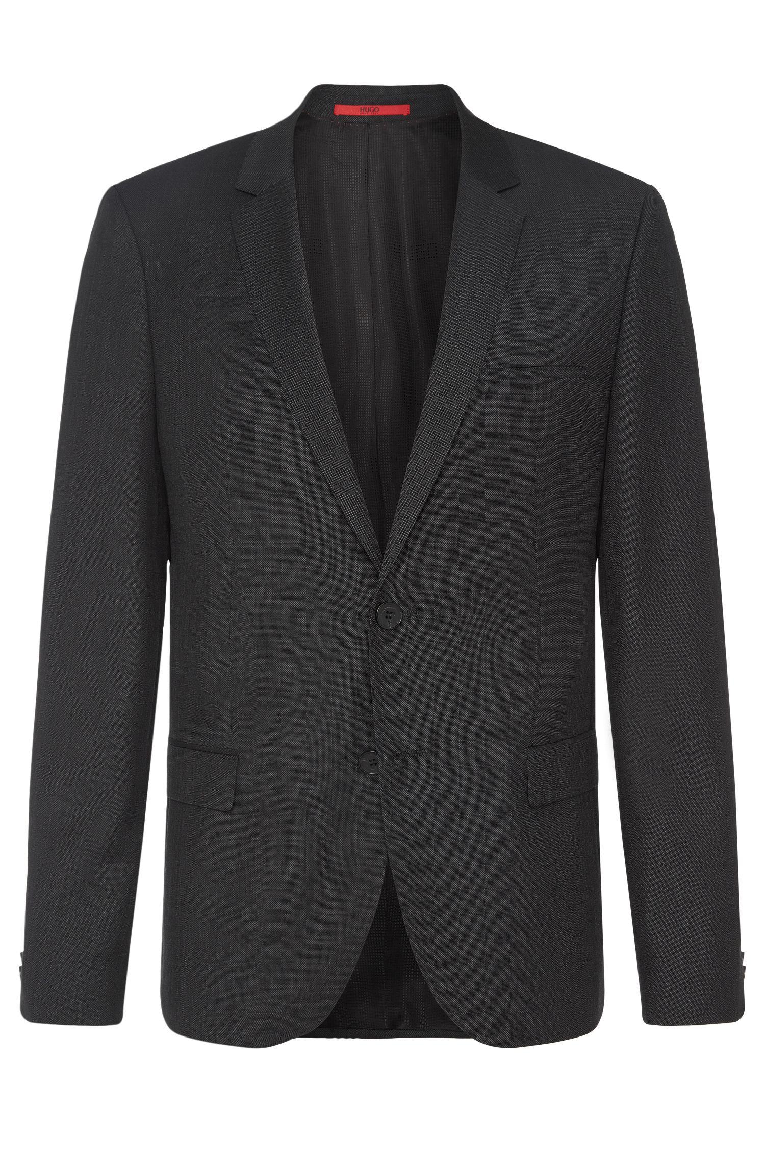Veste de costume Slim Fit en laine vierge finement structurée: «AlisterS»
