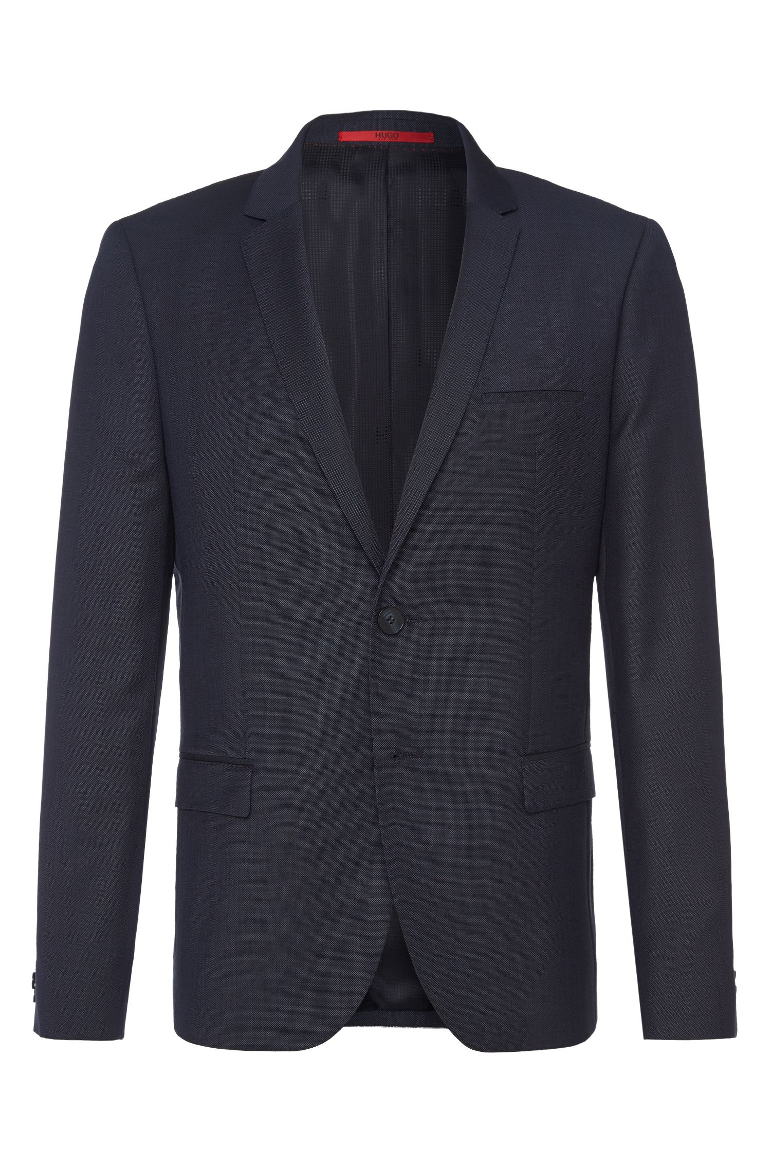 Finely textured slim-fit jacket in new wool: 'AlisterS'