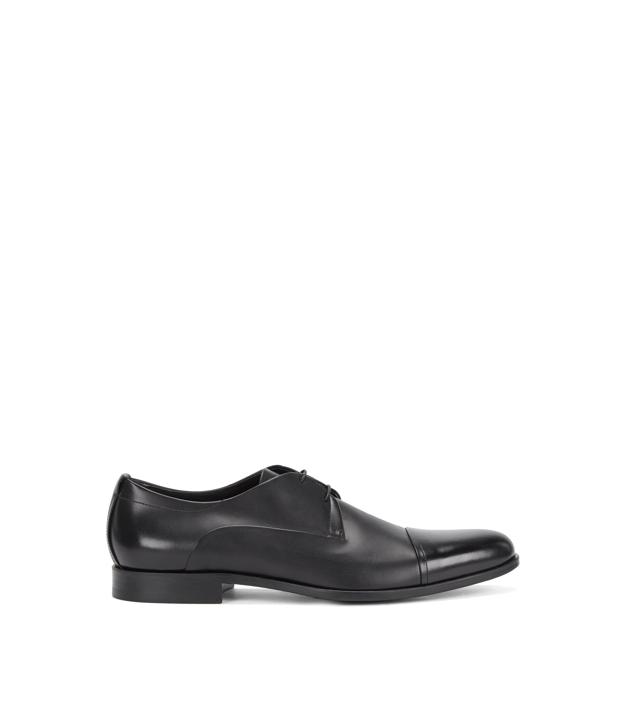 Leather lace-up shoes: 'Sigma_Derb_ltct', Black