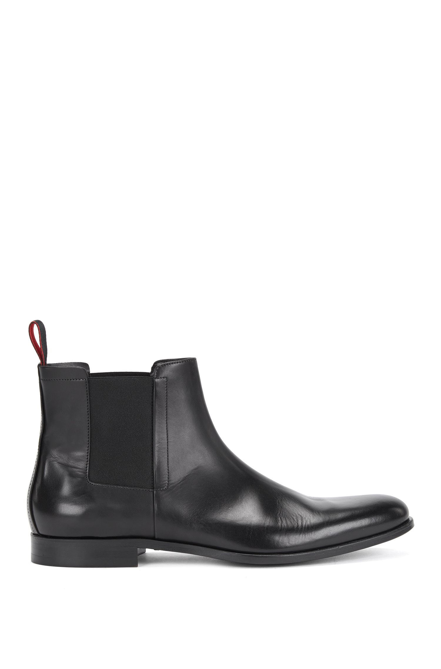Italian-made leather Chelsea boots
