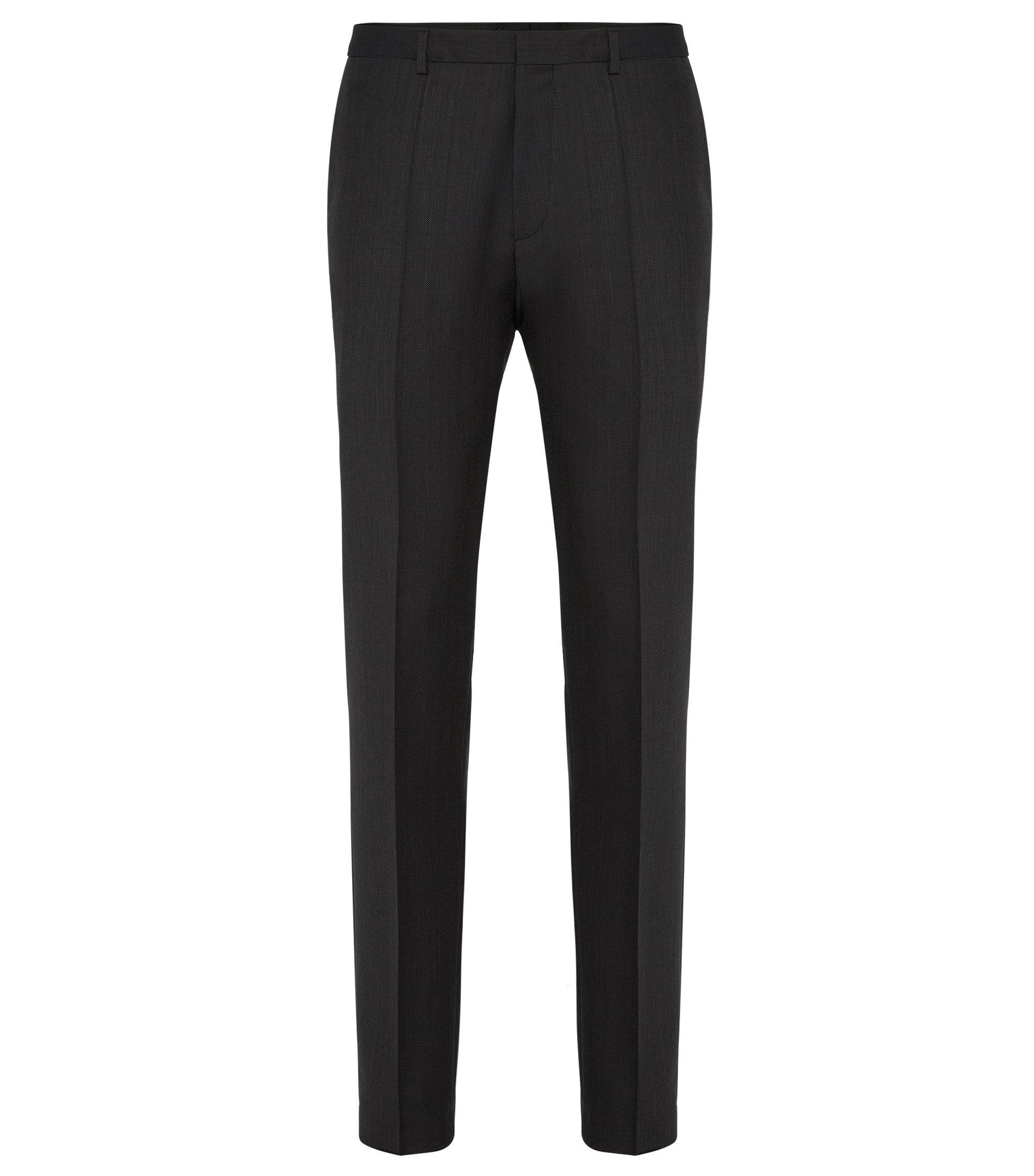 Fein strukturierte Extra-Slim-Fit Hose aus Schurwolle: 'HerioS', Schwarz