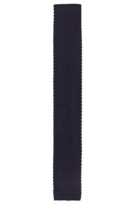Gebreide stropdas van viscose: 'Tie 5 cm knitted', Donkerblauw