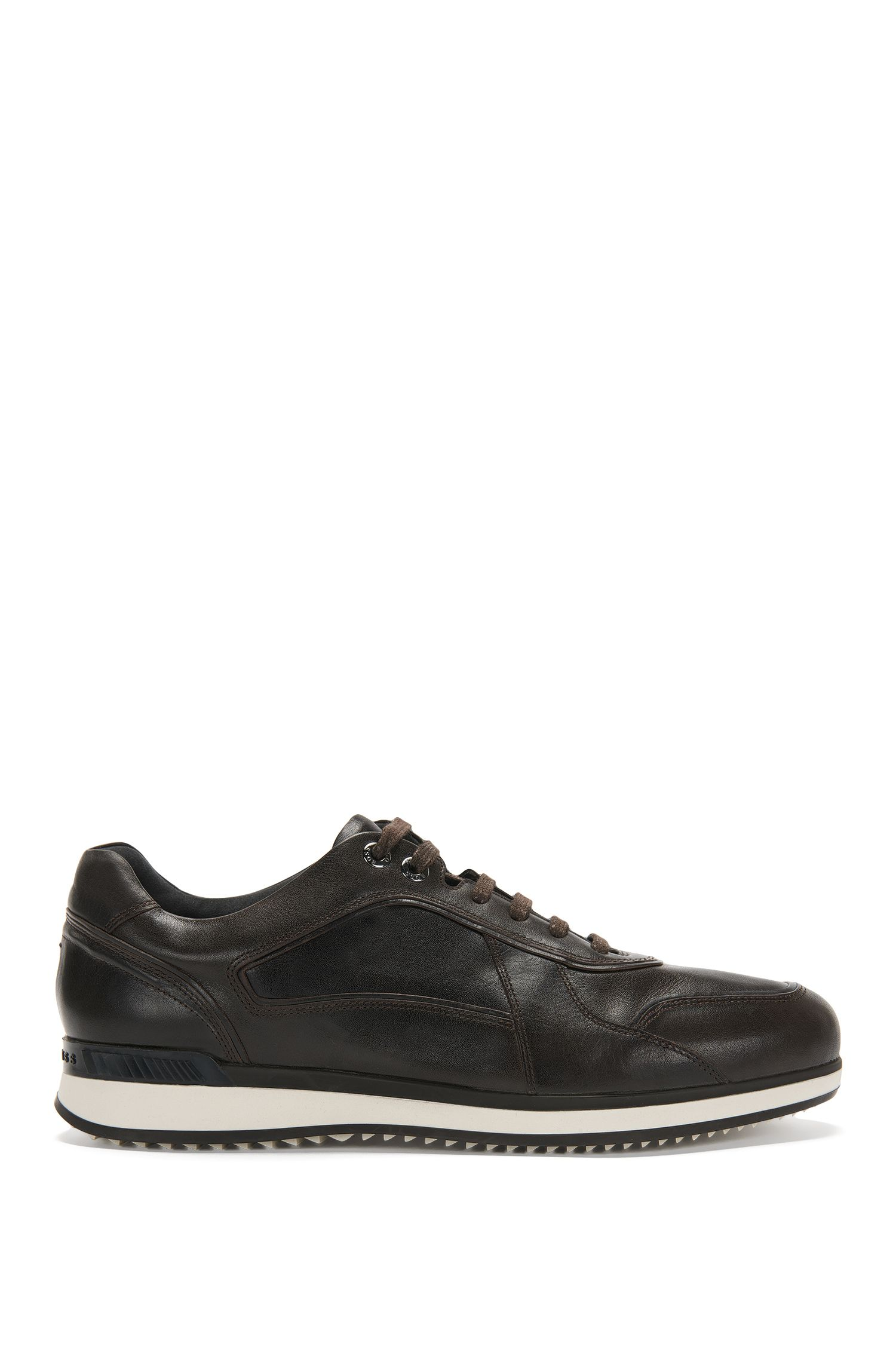 Leather trainers with layered sole: 'Heritage_Lowp_lt'