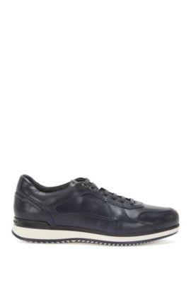 Sneakers aus Leder mit Schichtsohle: 'Heritage_Lowp_lt', Dunkelblau