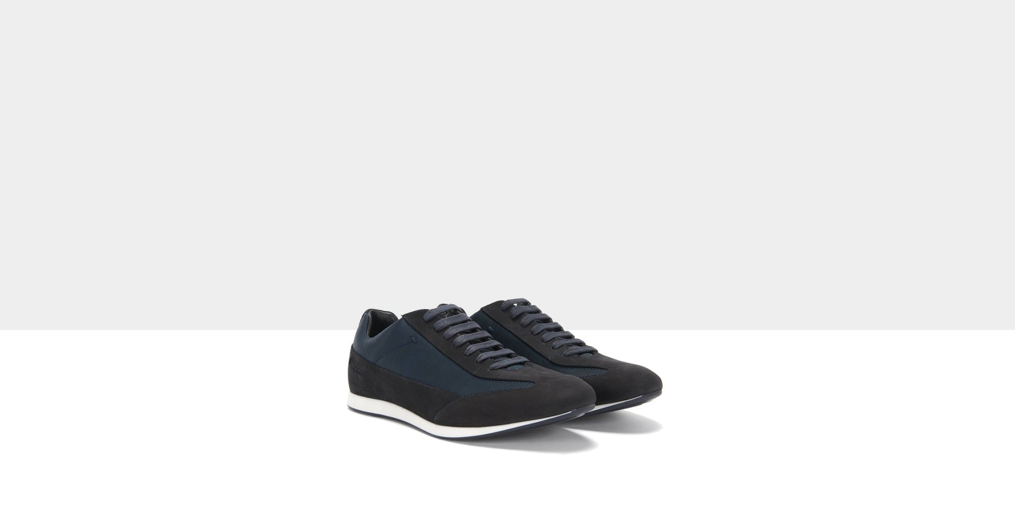 Leather trainers with textile trim: 'Fulltime_Lowp_nuny'