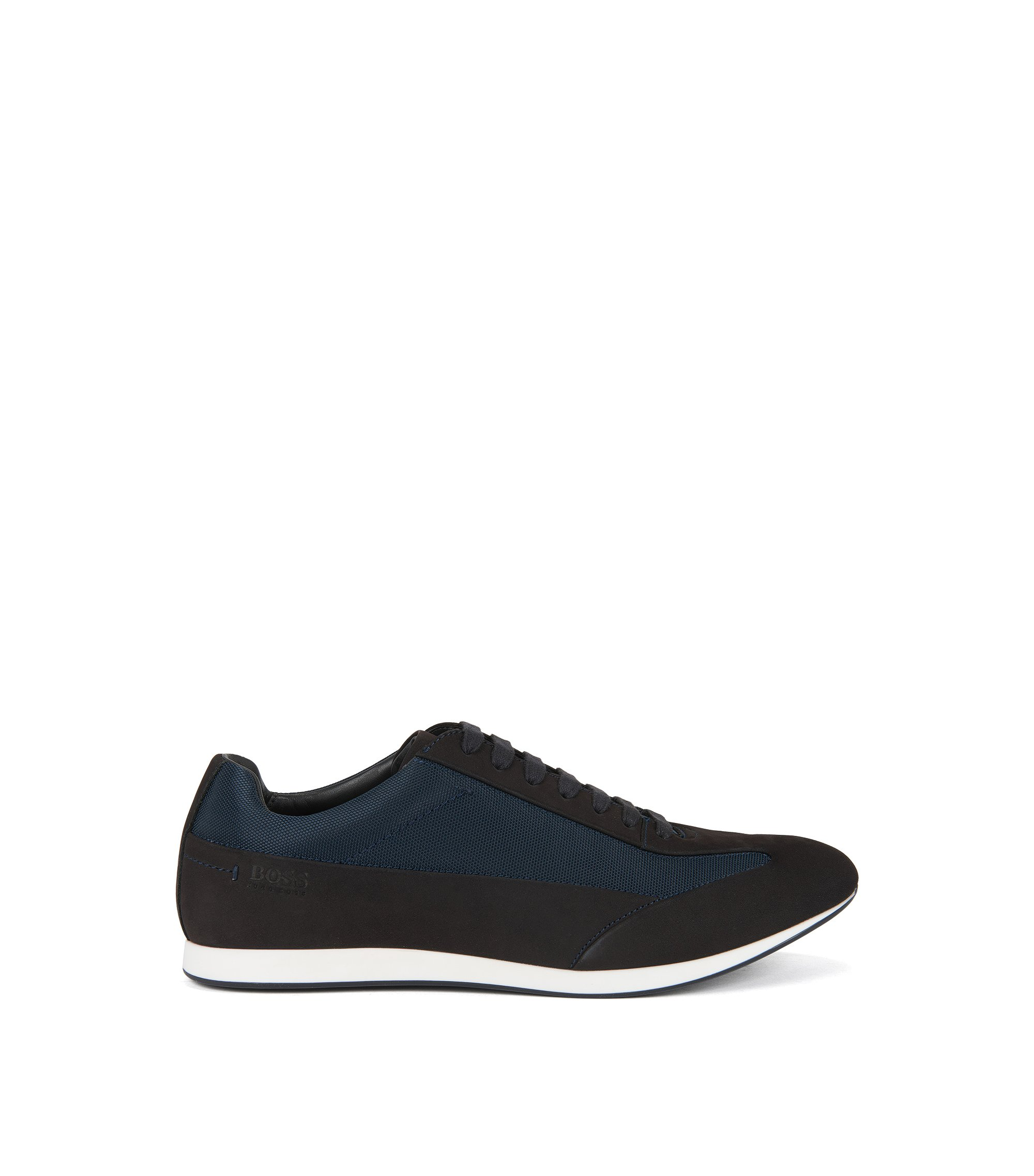 Lace-up trainers in polished leather BOSS