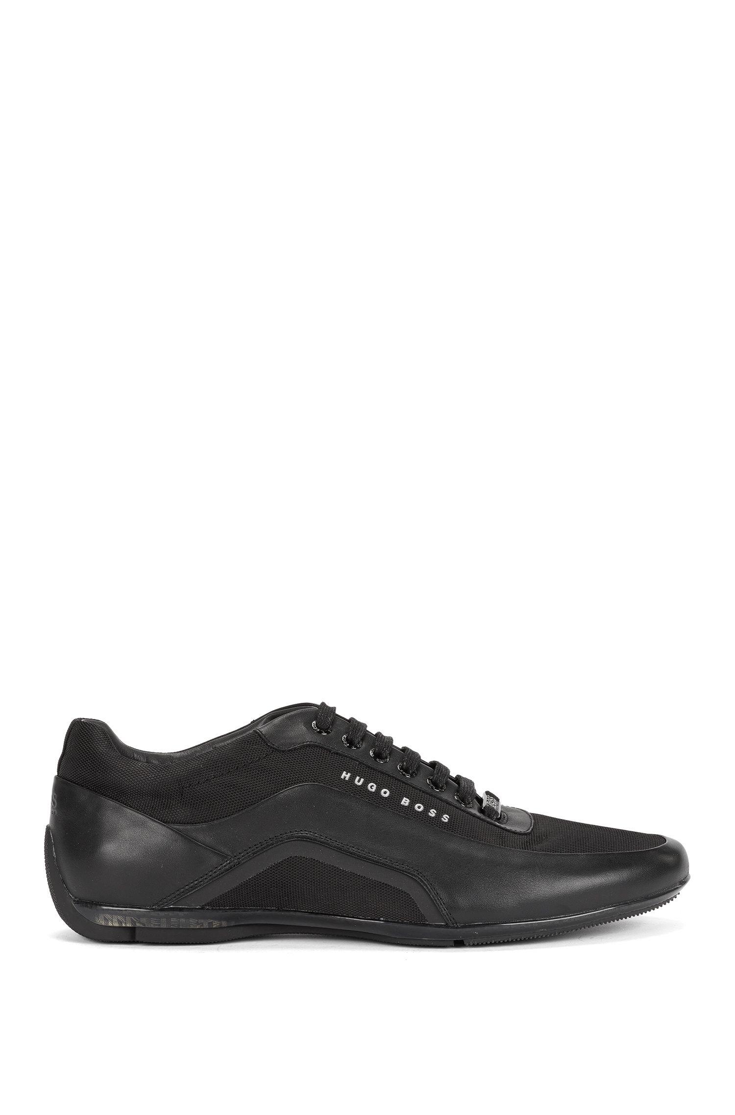 Sneakers in pelle con fibra al carbonio: 'Hbracing_Lowp_ltny'