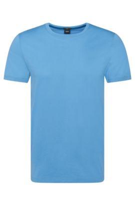 Slim-Fit T-Shirt aus Baumwolle: 'Tessler 33', Hellblau