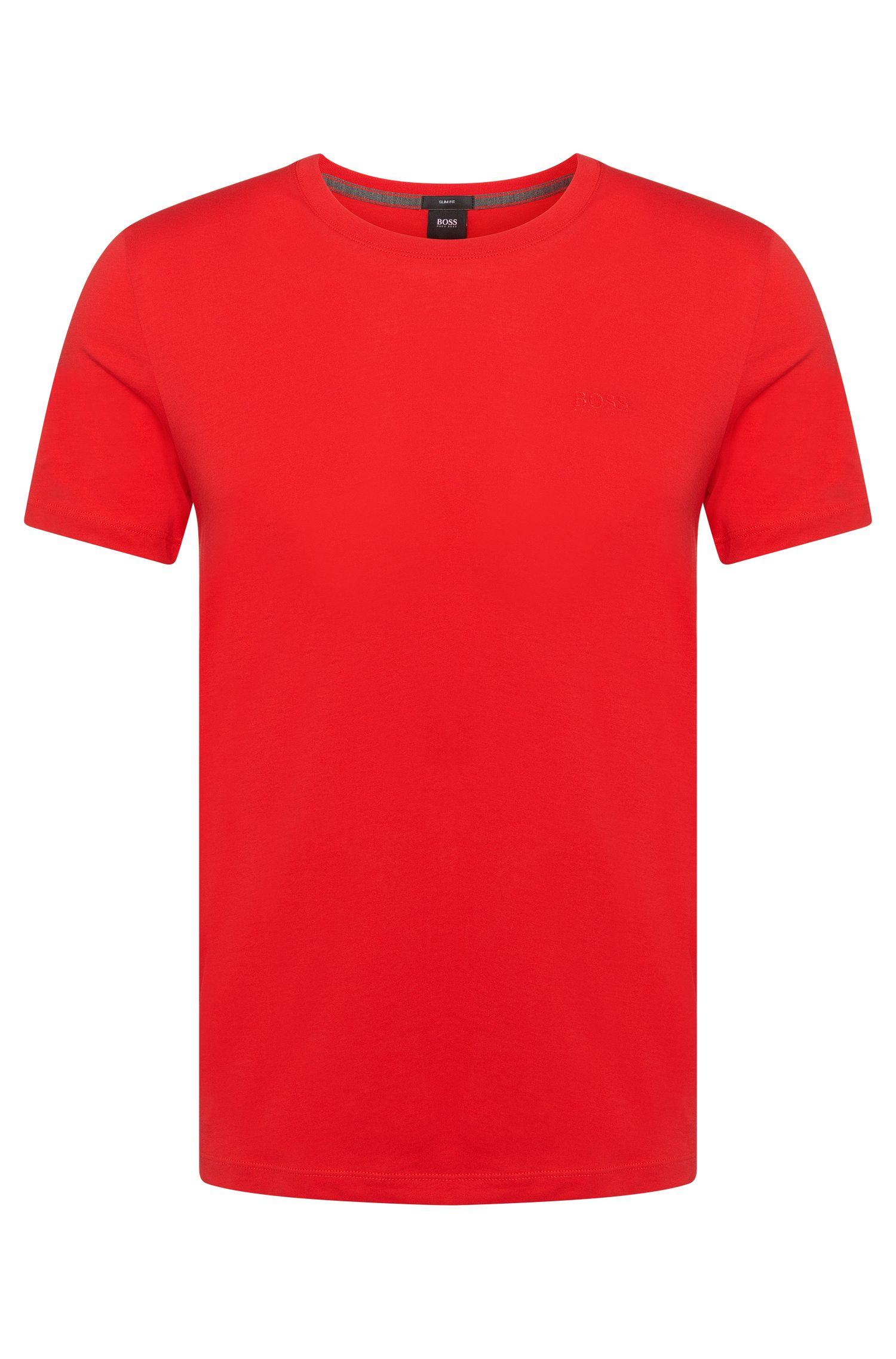 Slim-fit T-shirt van katoen: 'Tessler 33'