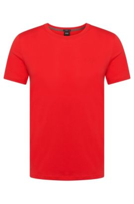 T-shirt Slim Fit en coton : « Tessler 33 », Rouge