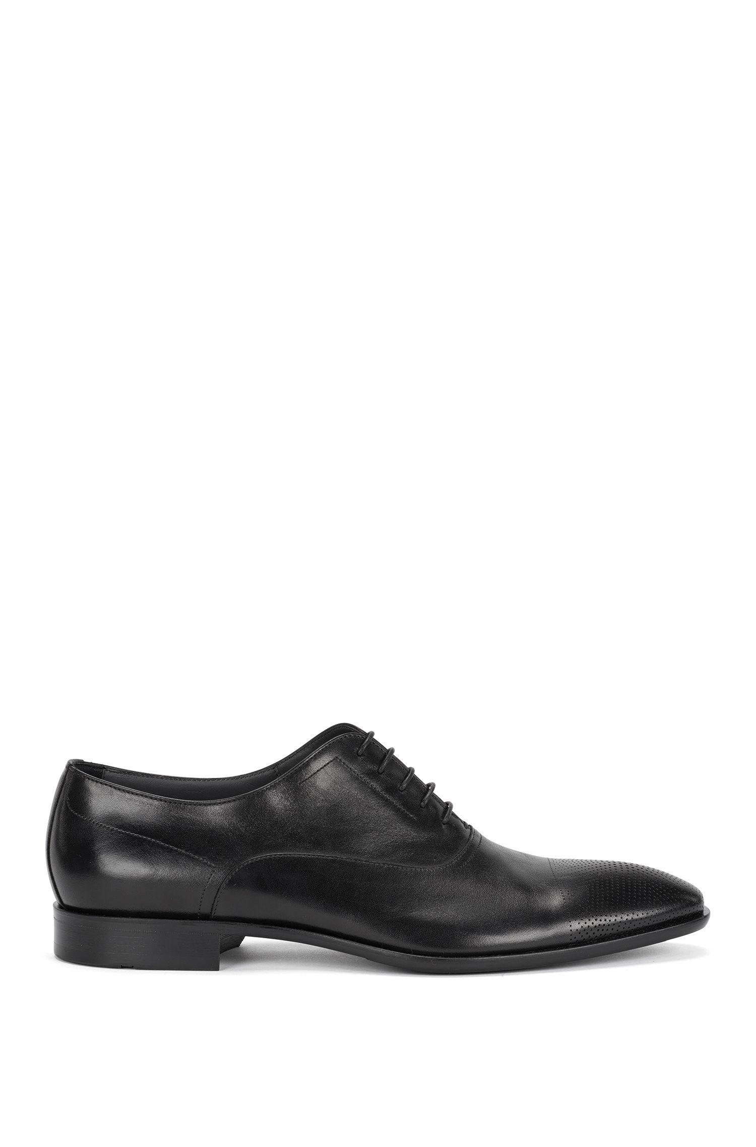Zapatos con cordones en piel con puntera perforada: 'Chelsea_Oxfr_ltct'