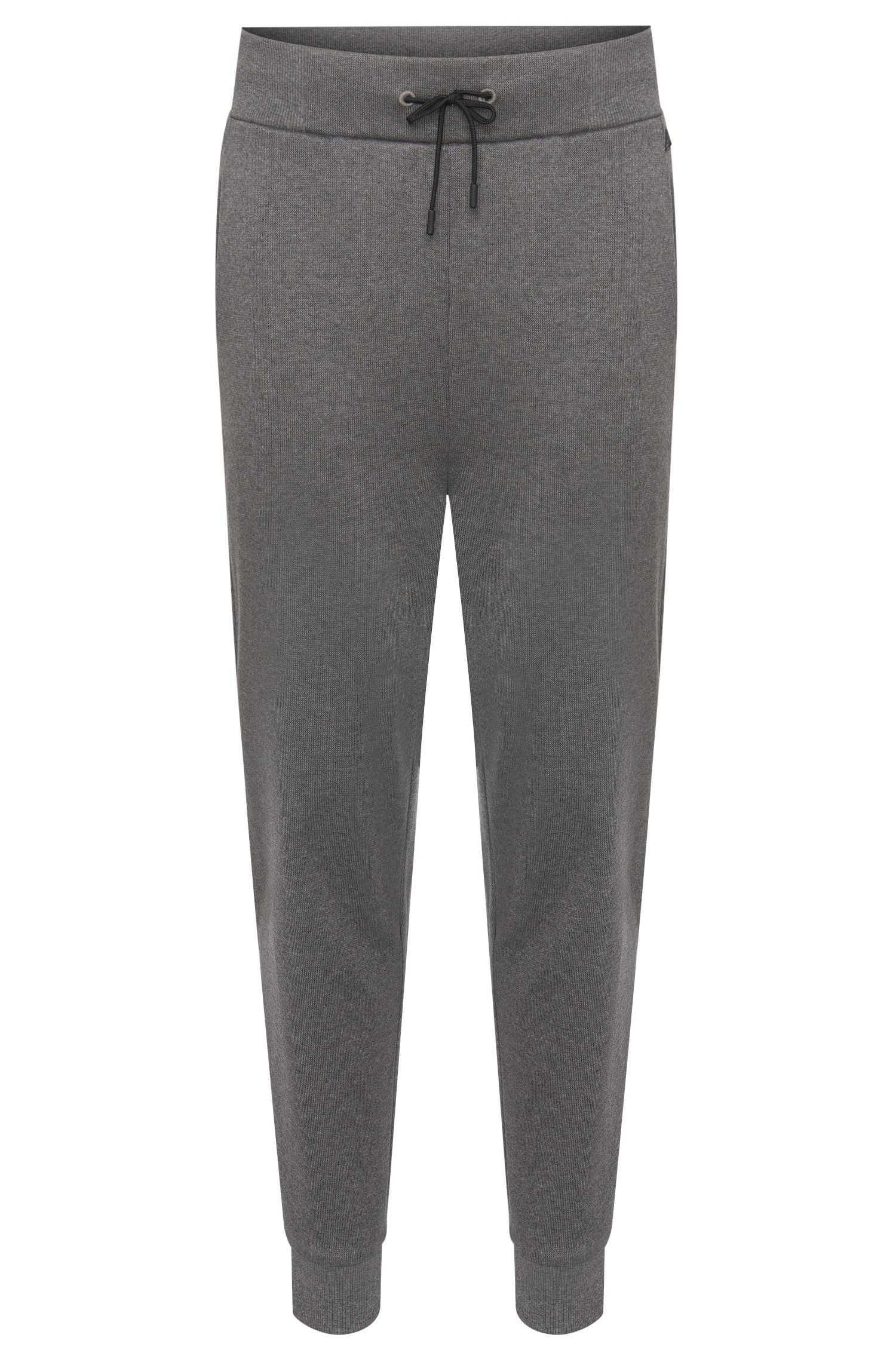 Regular-fit tracksuit bottoms in cotton with drawstring waistband: 'Daboso'