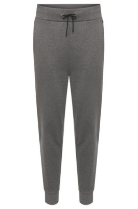 Regular-fit tracksuit bottoms in cotton with drawstring waistband: 'Daboso', Grey