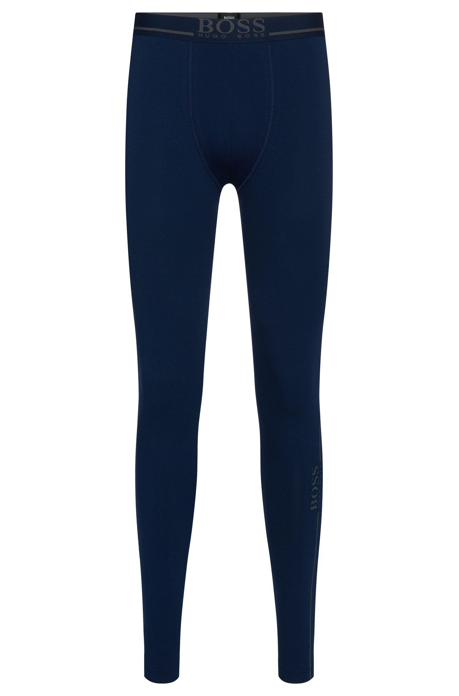 Lange Unterhose aus Stretch-Baumwolle: 'Long John 24 Logo'