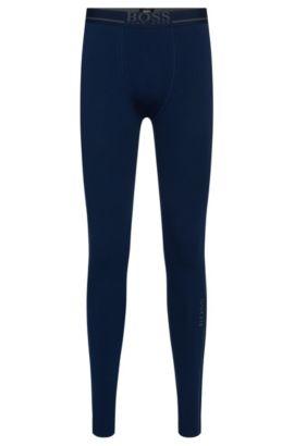 Lange Unterhose aus Stretch-Baumwolle: 'Long John 24 Logo', Dunkelblau