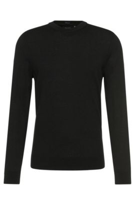 Regular-Fit Tailored Pullover aus Kaschmir: 'T-Borello', Schwarz