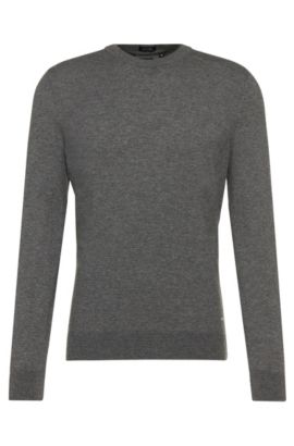 Regular-Fit Tailored Pullover aus Kaschmir: 'T-Borello', Grau