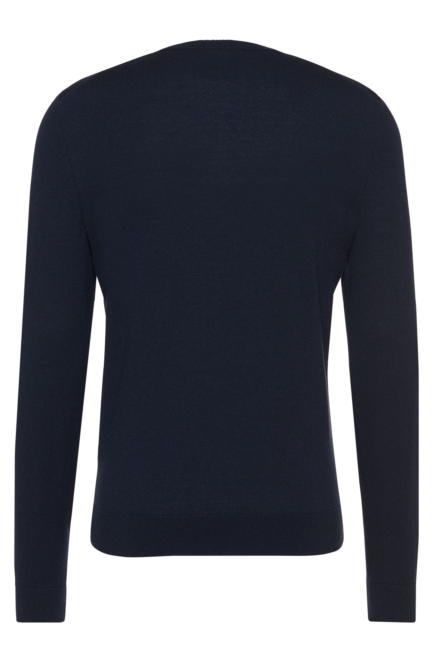 Regular-fit Tailored cashmere sweater: 'T-Borello', Dark Blue
