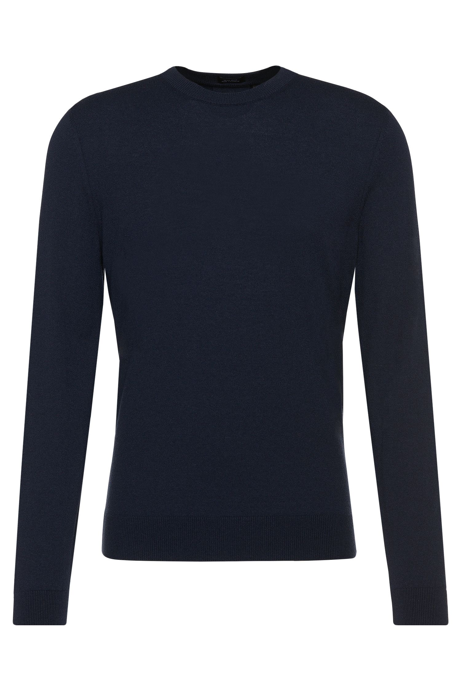 Regular-Fit Tailored Pullover aus Kaschmir: 'T-Borello', Dunkelblau