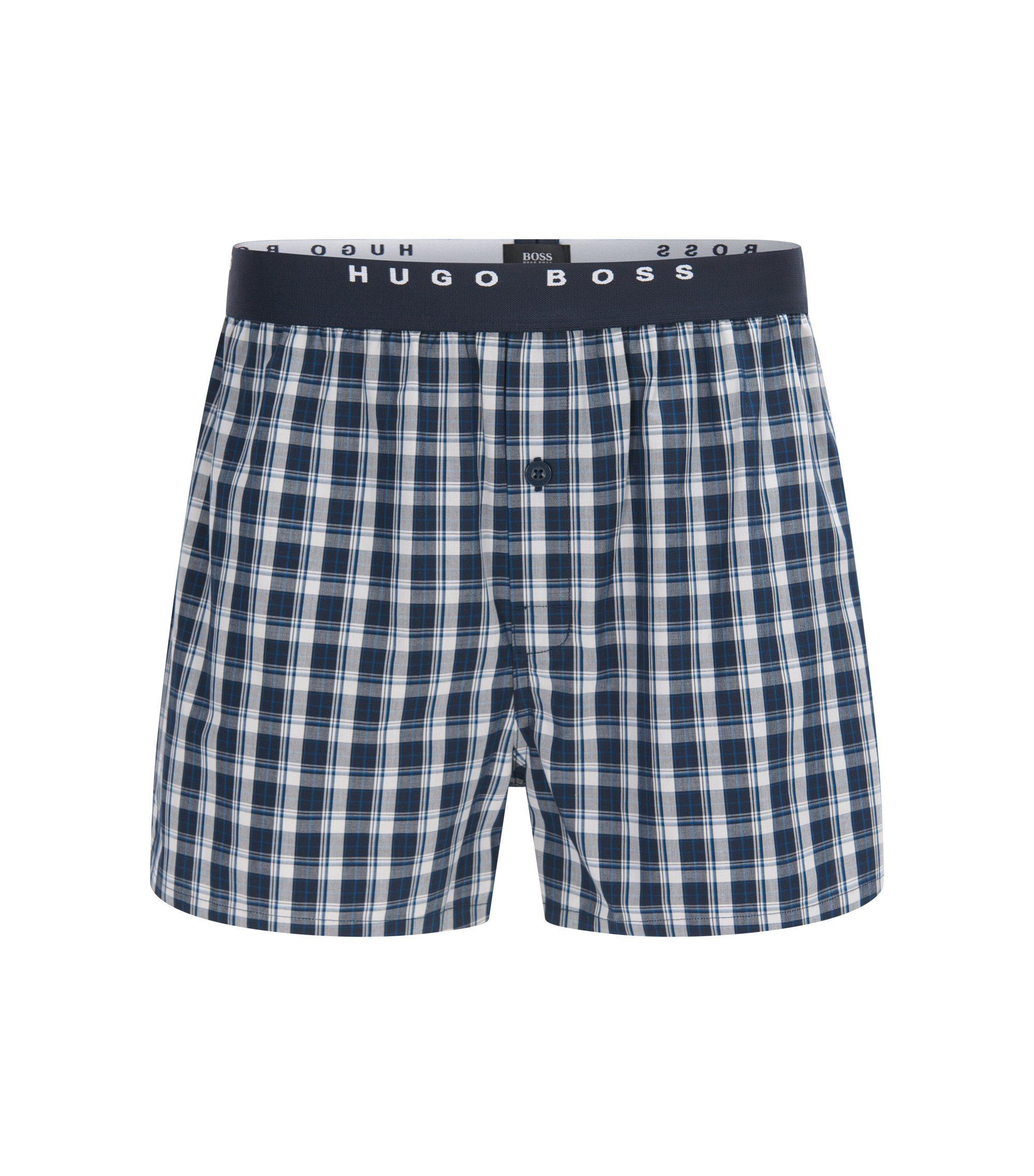 Two-pack of check cotton boxer shorts, Patterned