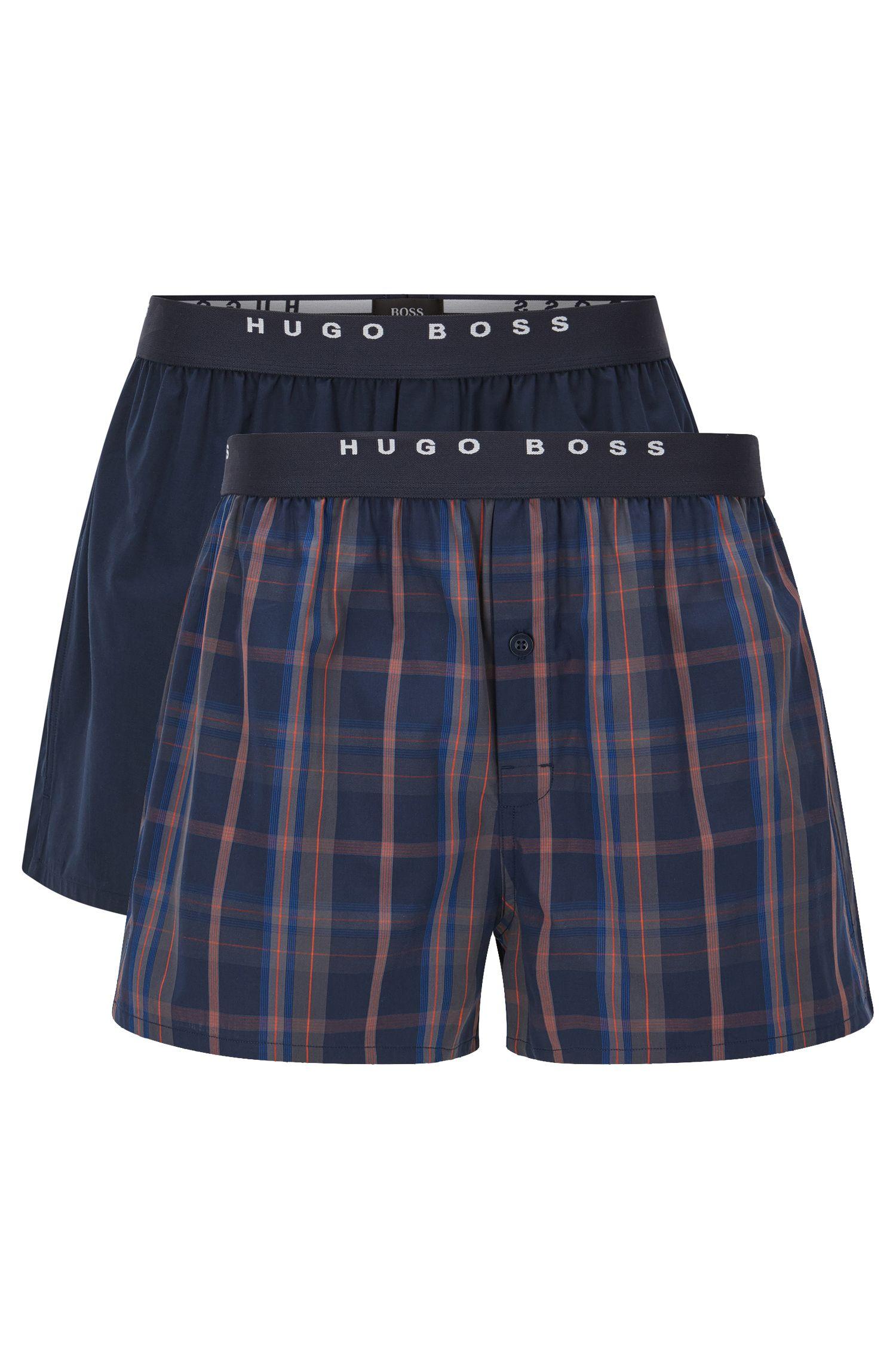 Lot de deux boxers en coton à carreaux