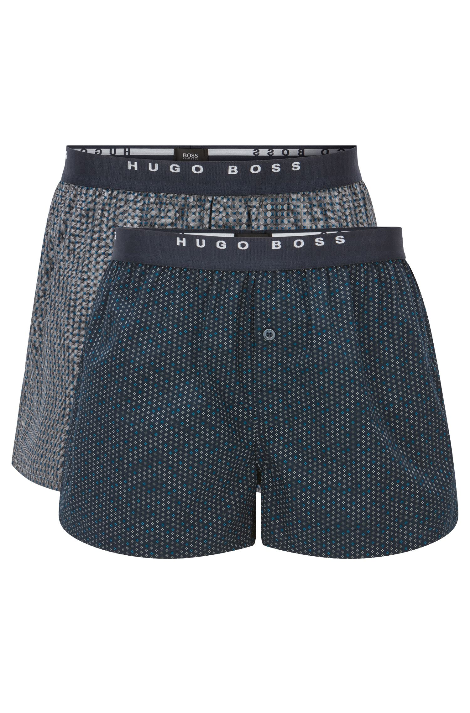 Lot de deux boxers en coton à carreaux