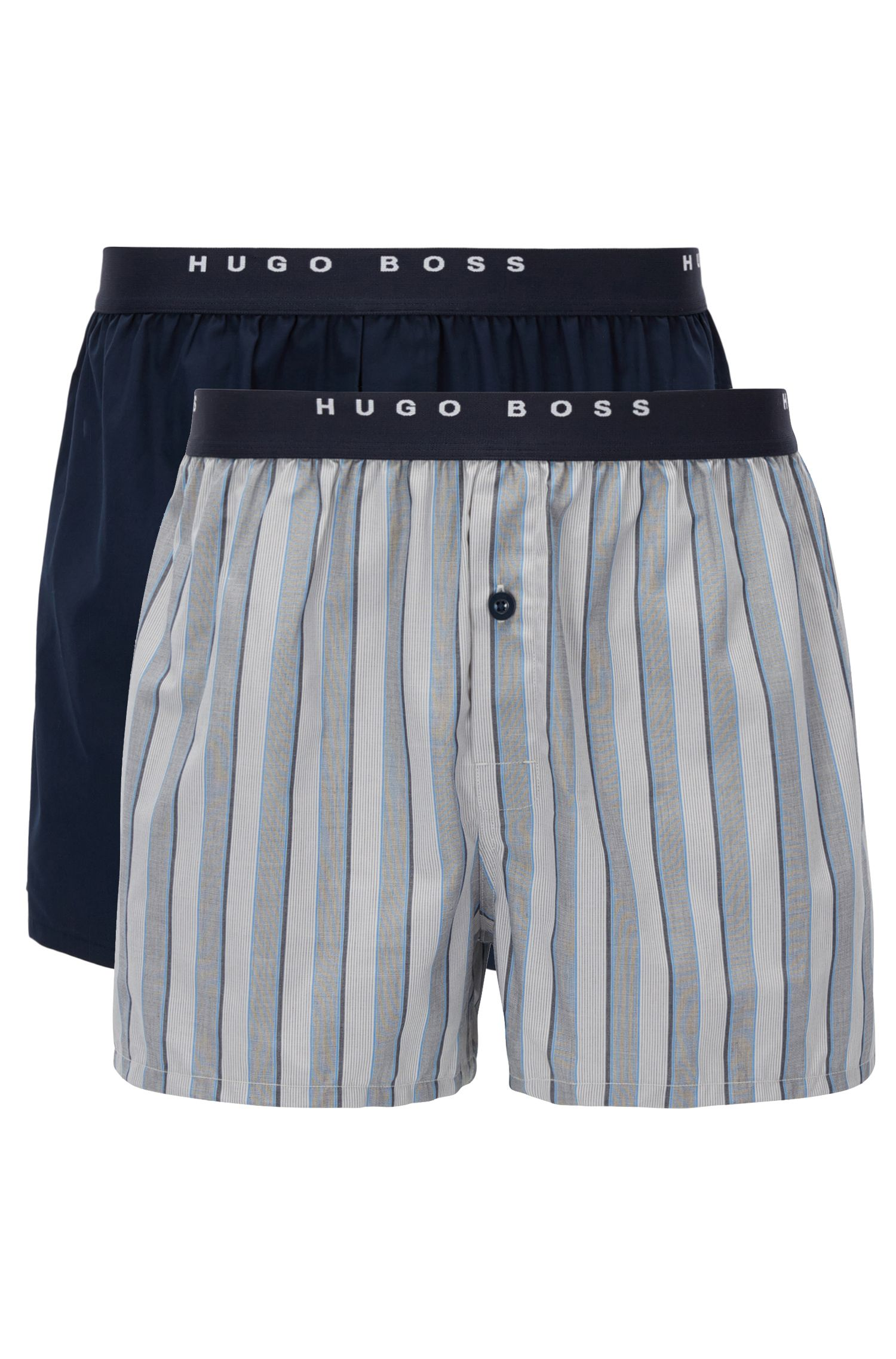Two-pack of check cotton boxer shorts