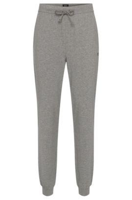 Pantalon sweat en coton stretch avec cordon de serrage: «Long Pant CW Cuffs», Gris
