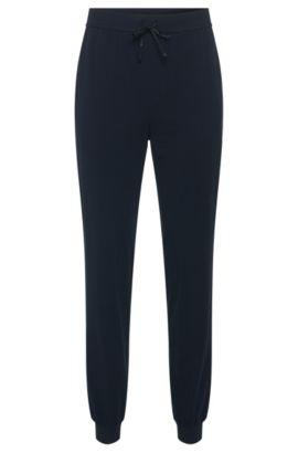 Pantalon sweat en coton stretch avec cordon de serrage: «Long Pant CW Cuffs», Bleu foncé
