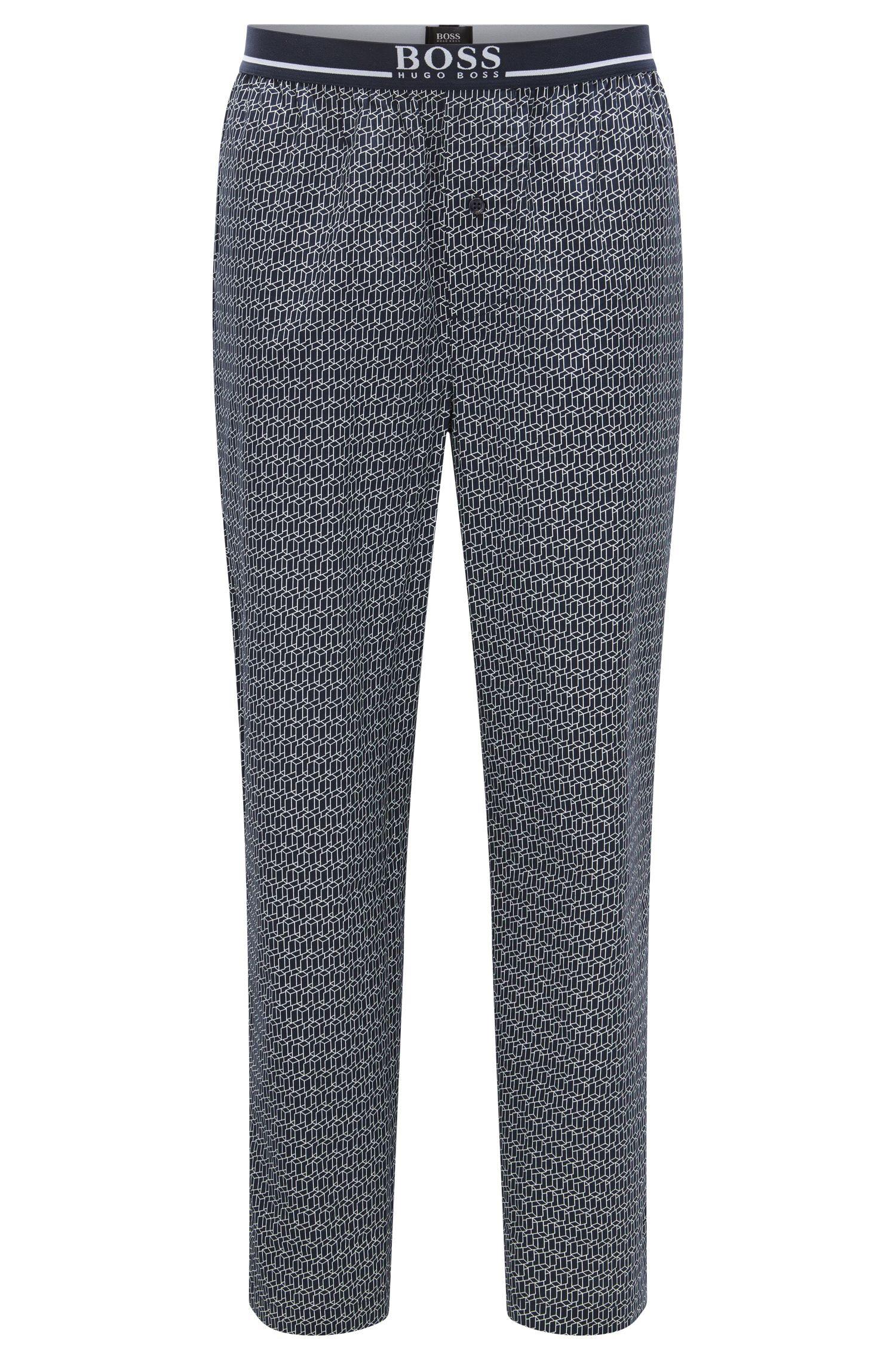 Pantalon de pyjama à carreaux en pur coton: «Long Pant EW»