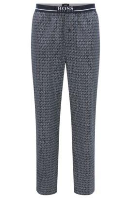 Pantalon de pyjama à carreaux en pur coton: «Long Pant EW», Bleu foncé