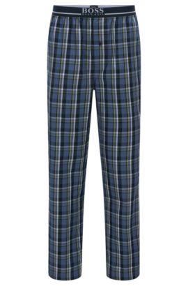 Karierte Pyjama-Hose aus reiner Baumwolle: 'Long Pant EW', Blau