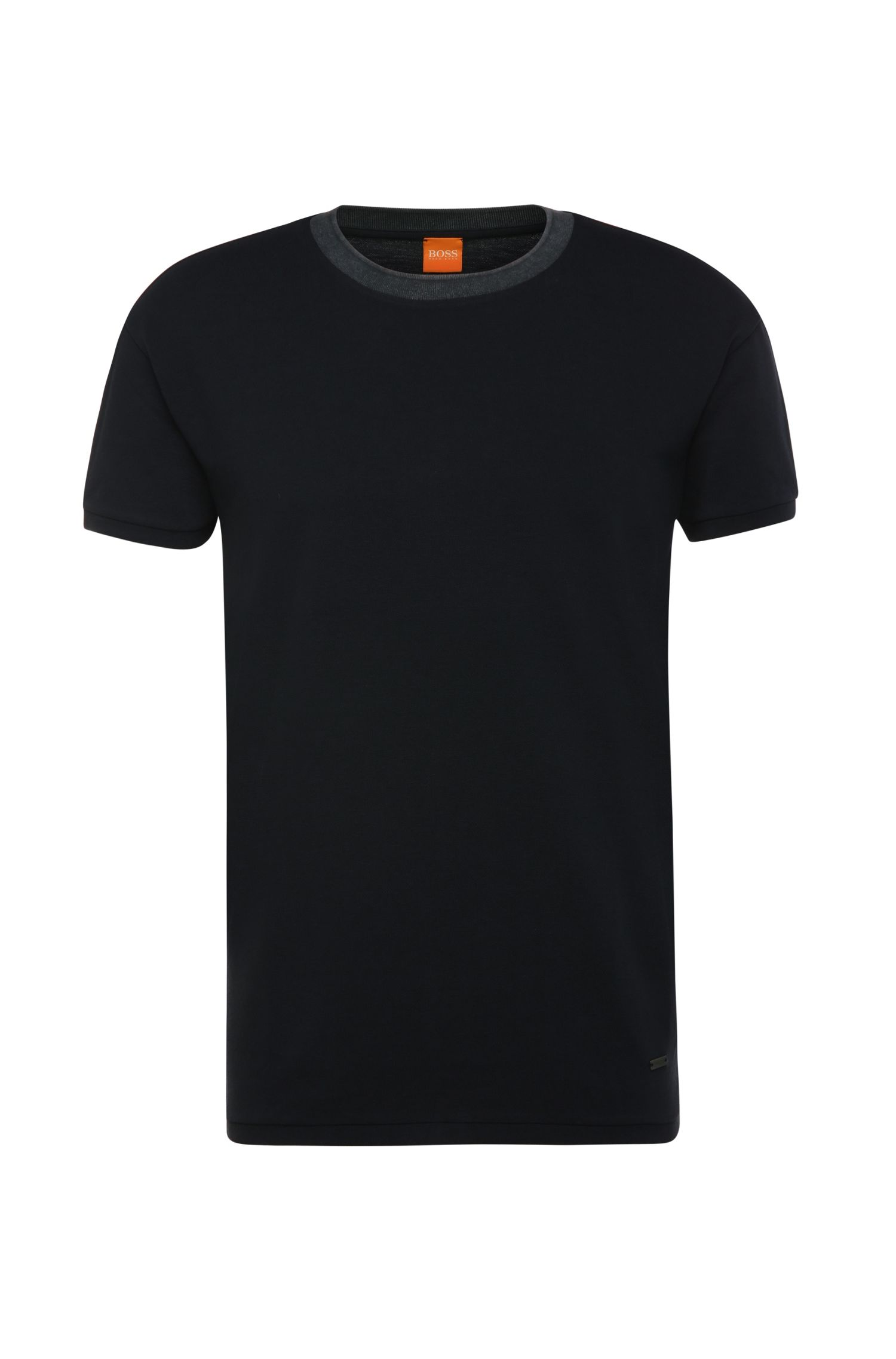 Relaxed-fit t-shirt in cotton piqué: 'Tanzy'