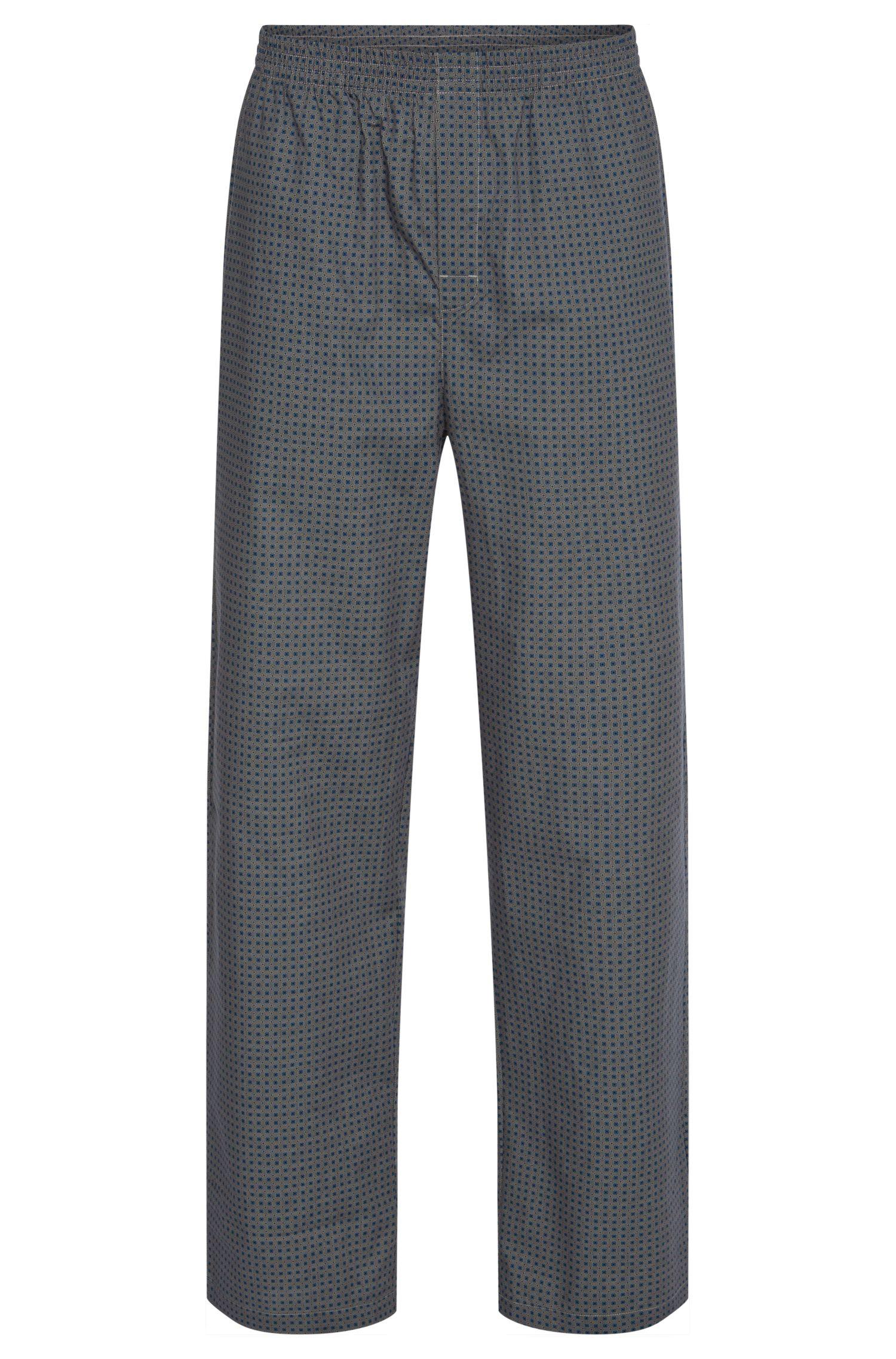 Allover gemusterte Pyjama-Hose aus Baumwolle: 'Long Pant CW'