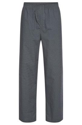 Pyjamabroek van katoen met all-over dessin: 'Long Pant CW', Bedrukt