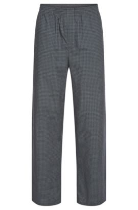 All-over patterned pyjama bottoms in cotton: 'Long Pant CW', Patterned