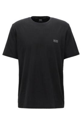 T-shirt per il tempo libero in cotone jersey singolo, Nero