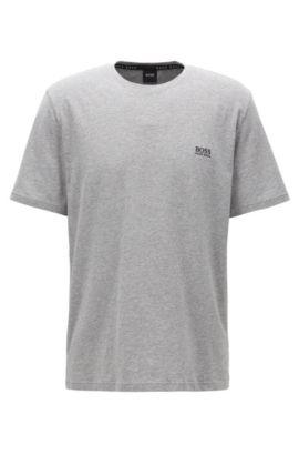 Legeres T-Shirt aus elastischer Baumwolle, Grau