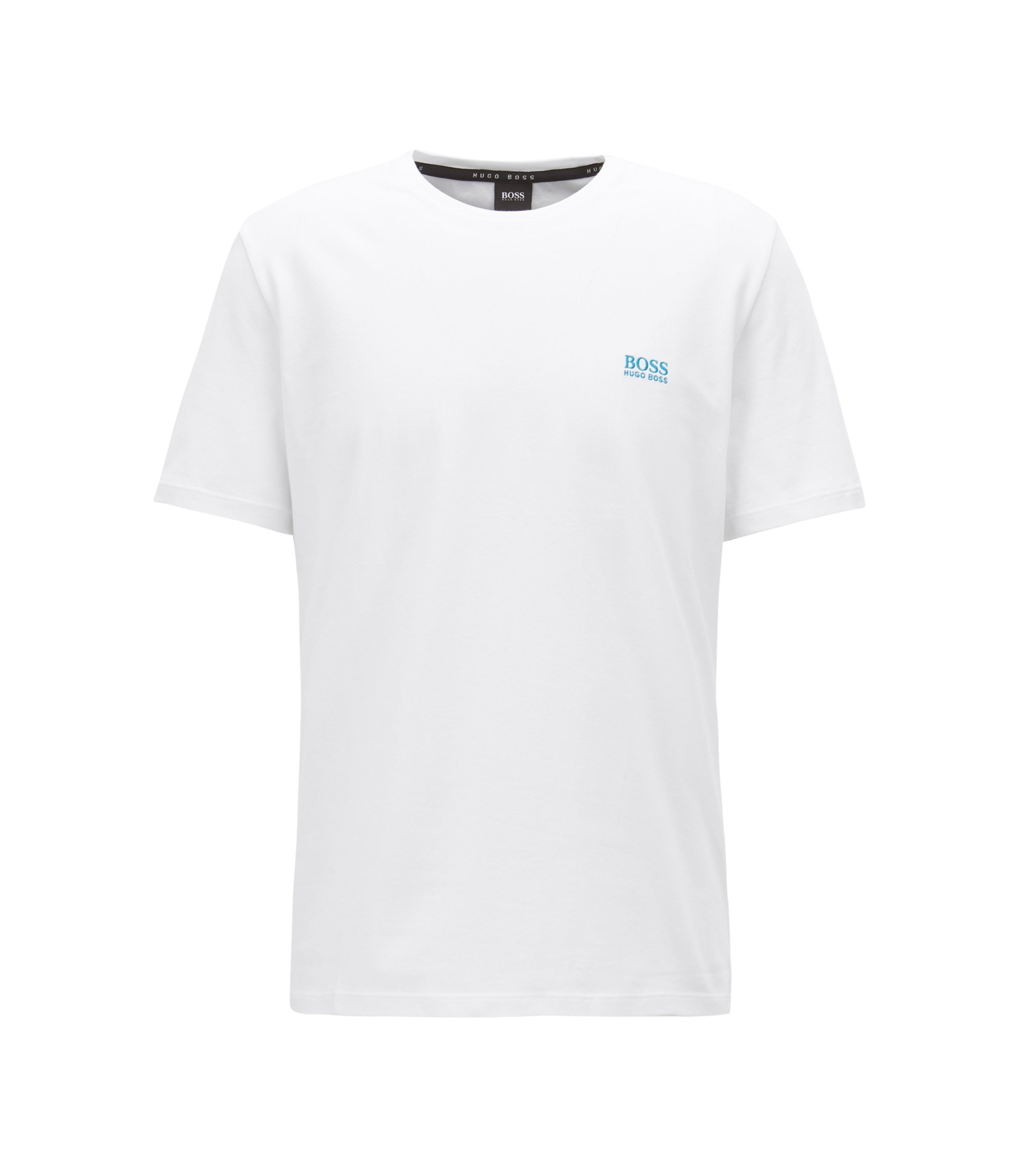 Lounge-T-shirt van single jersey katoen, Wit