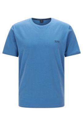 Loungewear T-shirt in single jersey cotton, Blue