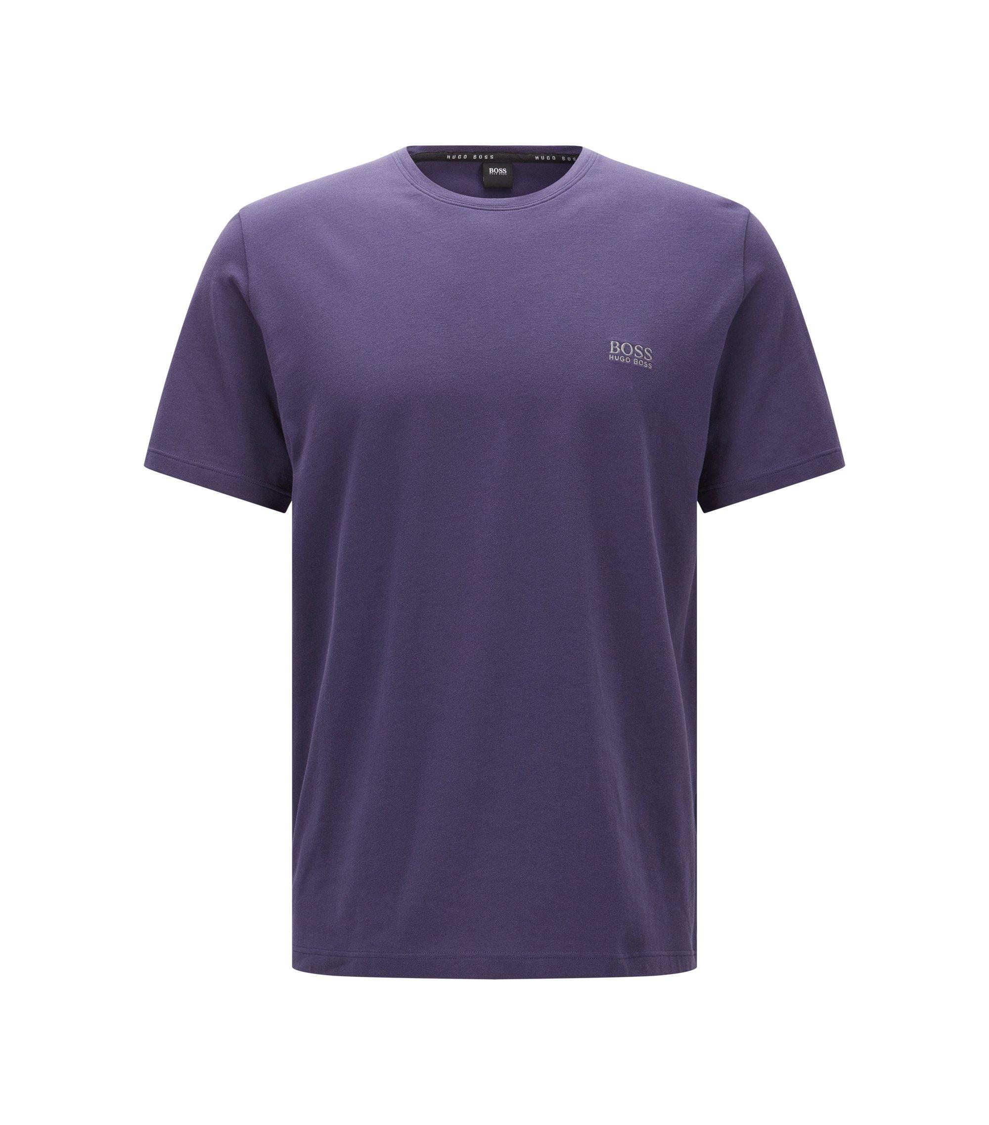 Loungewear T-shirt in single jersey cotton, Dark Purple