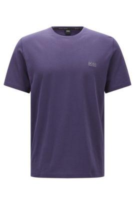 T-shirt d'intérieur en jersey single de coton, Violet foncé
