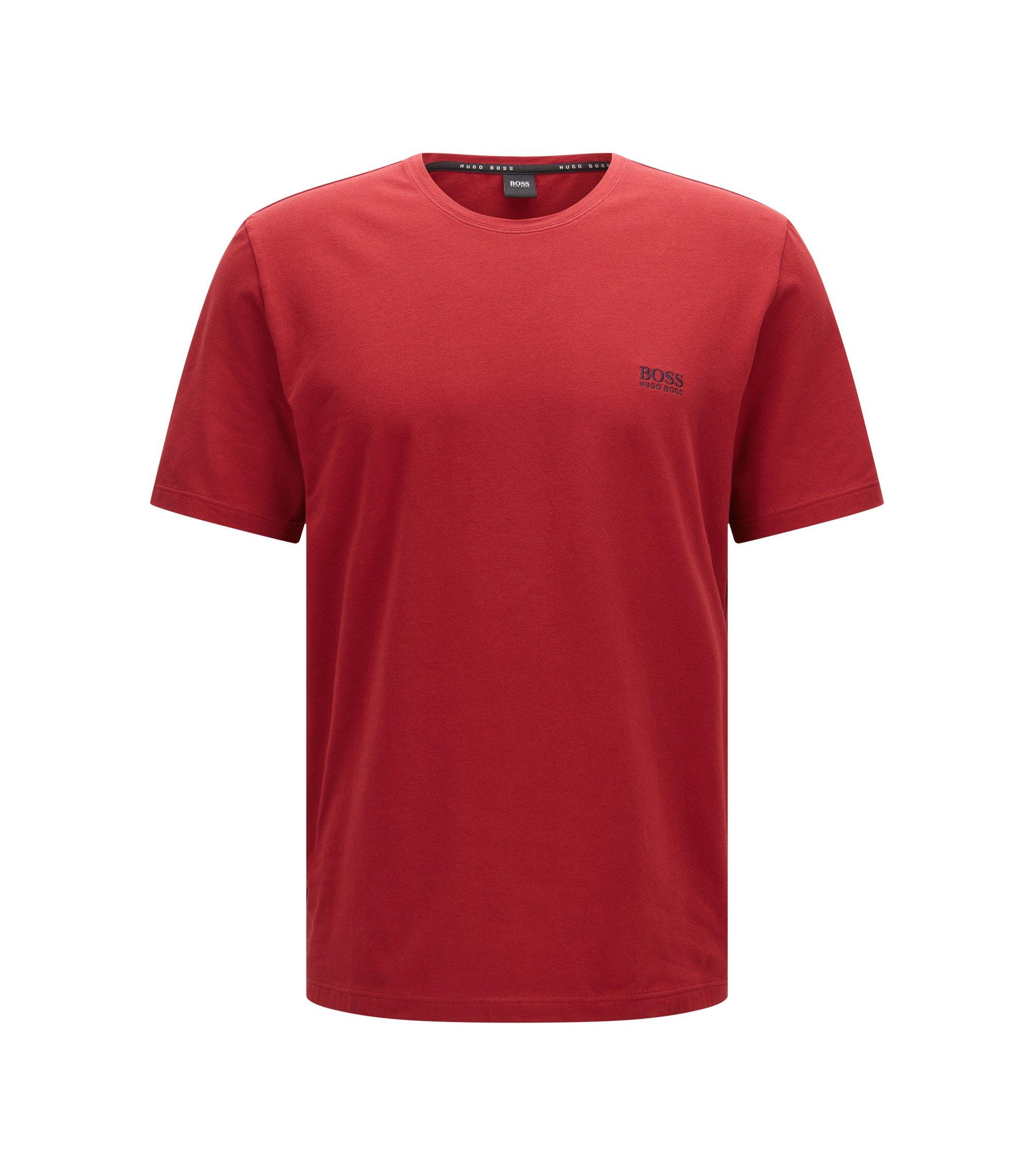 Legeres T-Shirt aus elastischer Baumwolle, Dunkelrot