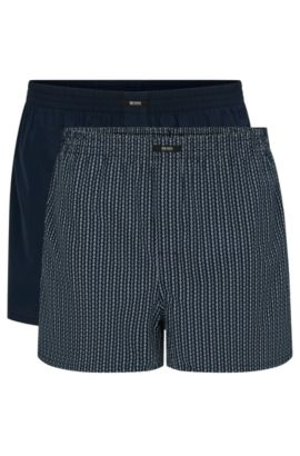 Cotton boxer shorts in a double pack: 'Boxer CW 2P', Patterned