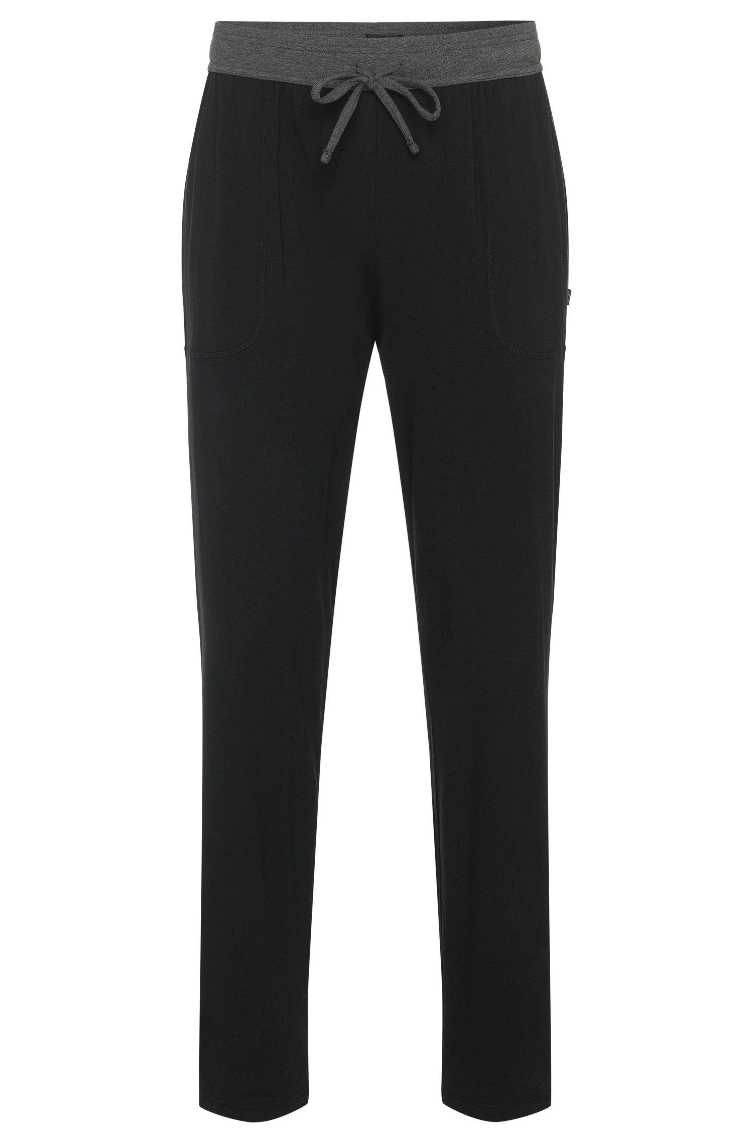 Pantalon de pyjama en coton mélangé doté d'une ceinture de couleur en contraste: «Long Pant CW»