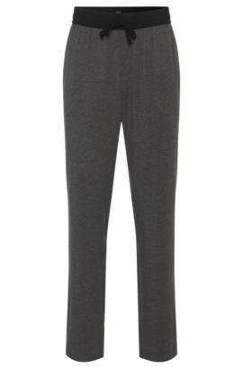 Pantalon de pyjama en coton mélangé doté d'une ceinture de couleur en contraste: «Long Pant CW», Gris