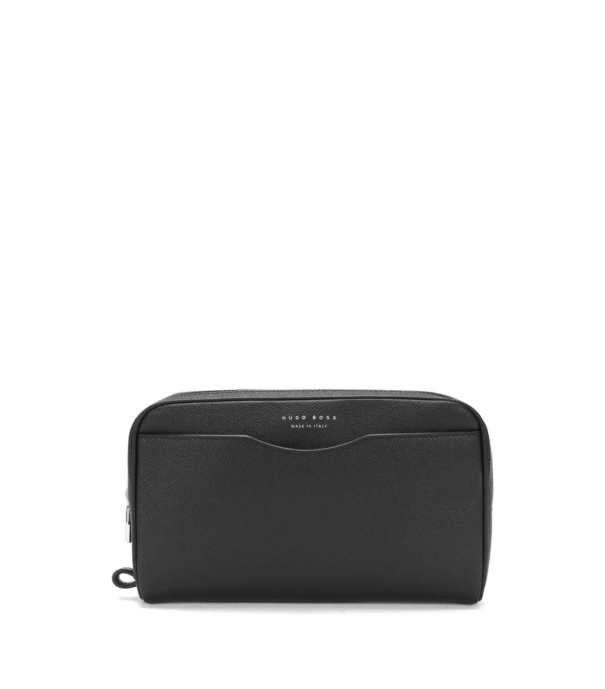 Signature Collection Pouch aus Palmellato-Leder, Schwarz