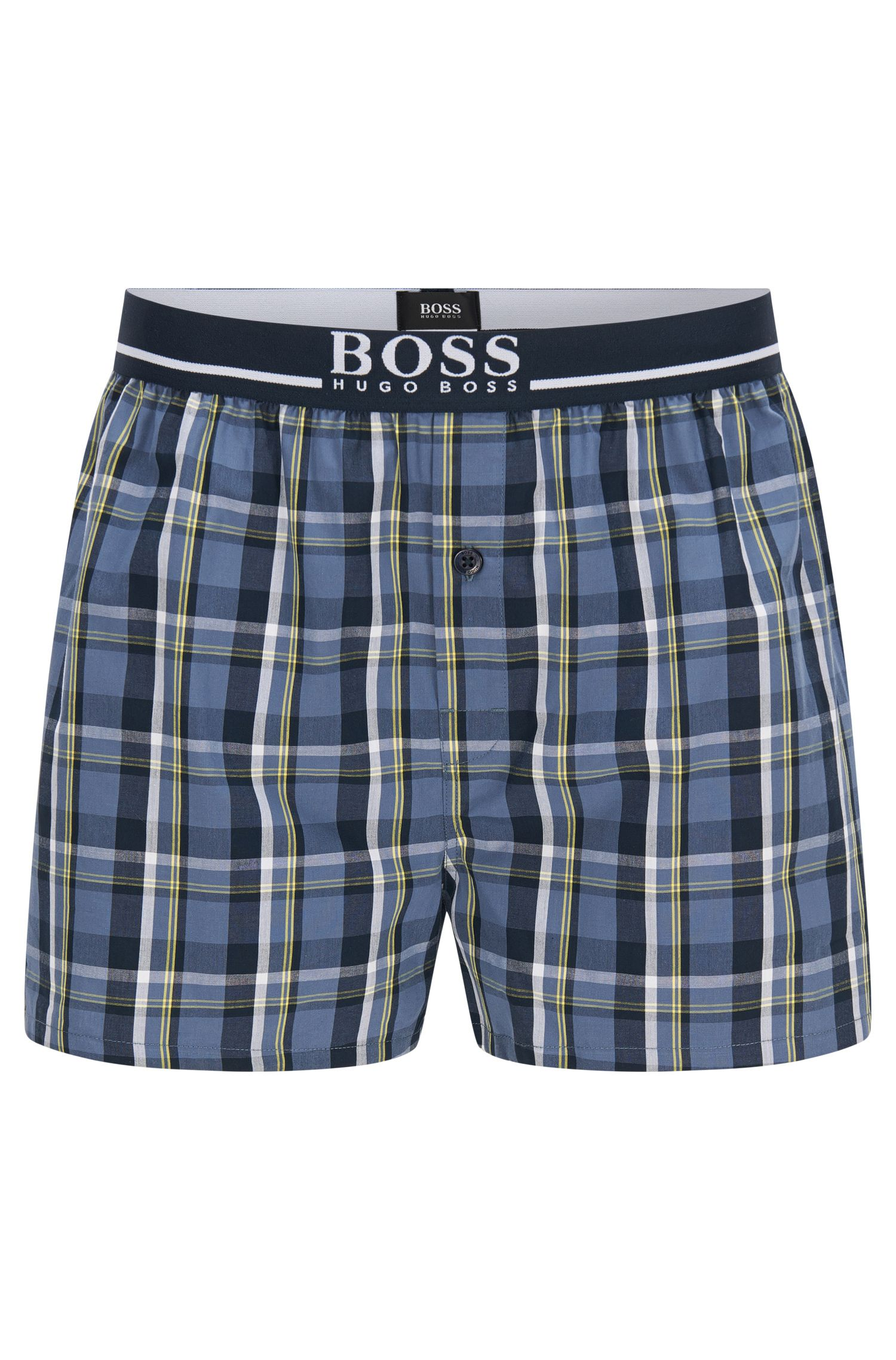 Checked regular-fit boxer shorts in cotton: 'Boxer Short EW'